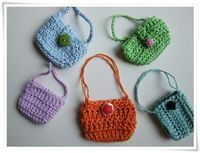 Crochet mini bag