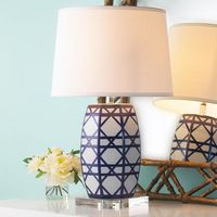 Ceramic Lattice Table Lamp