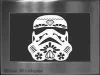 Sugar Skull / Stormtrooper Mashup vinyl decal Car by DisaDesigns, $5.75