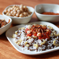 Koshari (National Dish Of Egypt): Koshari mixes lentils, macaroni noodles and rice into a single dish and it's then topped with ...[read more at Food Frenzy]