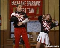 SNL Spartan cheerleaders
