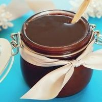Hot Fudge Sauce - BEST EVER!!! A cup of chocolate chips, a cube of butter, a can of sweetened condensed milk!