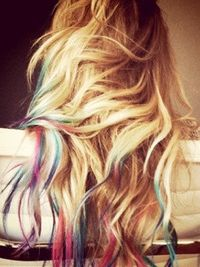 I do like the Ombre Pastel Tie Dye Tips...