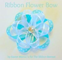 Ribbon Flower Bow tutorial made this