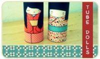 Kokeshi Tube Dolls!! Recycle your toilet paper rolls to create beautiful Kokeshi dolls