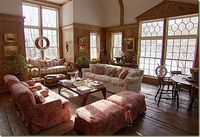 This is Christie Brinkley's Great Room of her Tower Hill home.