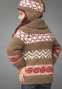 Hot Cocoa Jacket and Hat - free pattern