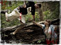 Run For Your Lives is a 5K zombie obstacle course. Gonna try to do the one in Indy this year :)