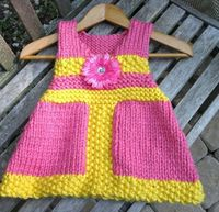 VNeck Jumper Dress Knitting Pattern in Bulky Yarn by LaurelArts, $4.50