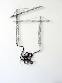 Elodie antoine thread on walls - dentelle aux fuseaux ~50x70cm (cranes) AMAZING.....