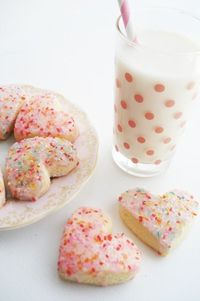 tickled pink with milk and cookies