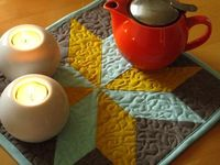 Sewing: Lemoyne Star Quilted Trivet