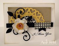 I miss you card by Amy Rohl