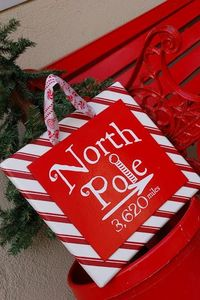 Knock-off North Pole Sign