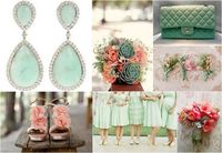 Mint Green and Peach Wedding Theme