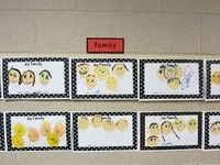 Wild about K Kids: Kindergarten Family Portraits- Too Cute!