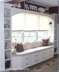 built in window seat - with DIY tips