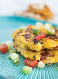 Cornmeal Pancakes - savory or sweet - from Beers & Beans
