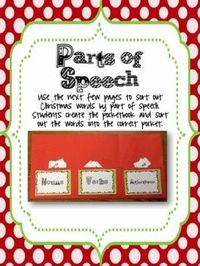 Winter Parts of Speech