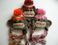 Sock Monkey Hat KNITTING PATTERN easy beginner newborn infant toddler child photography prop. $3.95, via Etsy.