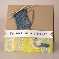 Card for knitter