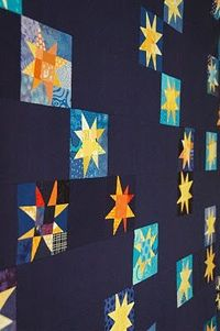 Star night by Marit on Quilt it